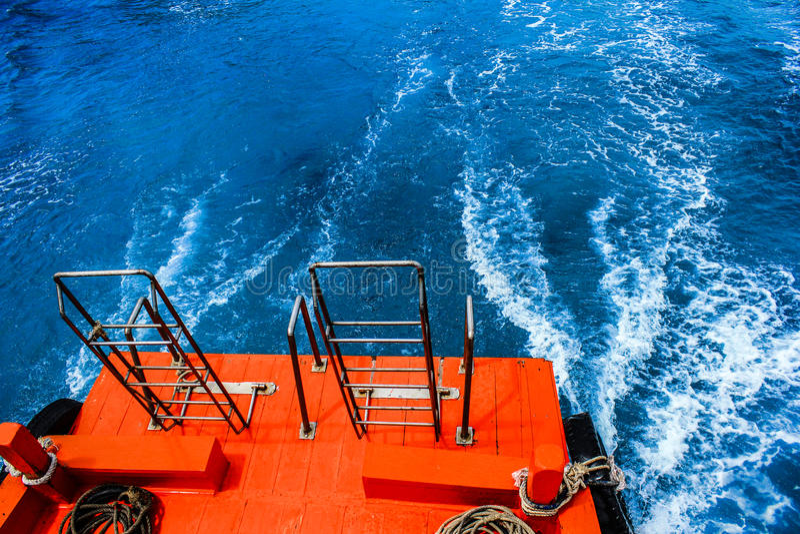 Das Endstückboot stockfoto
