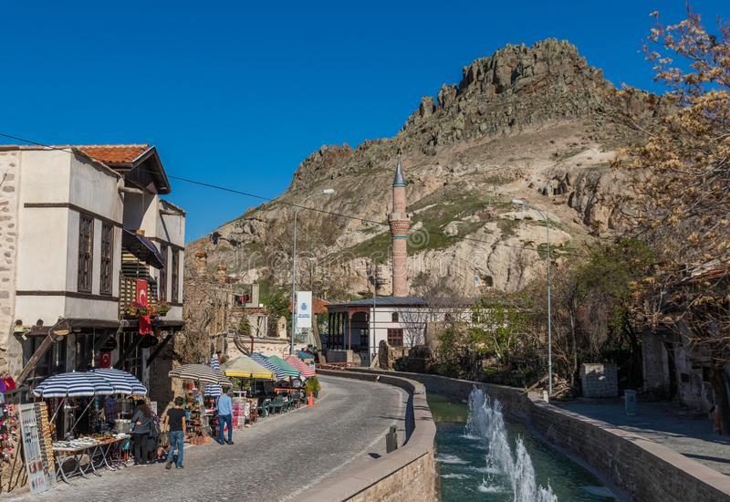 Das erstaunliche Dorf von Sille Subasi, die T?rkei stockbild