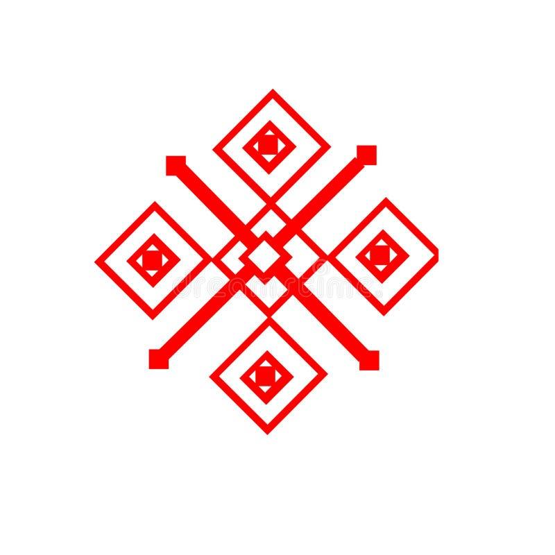 Das ethnische Element des slawischen Musters auf einem weißen backgrou stockfoto