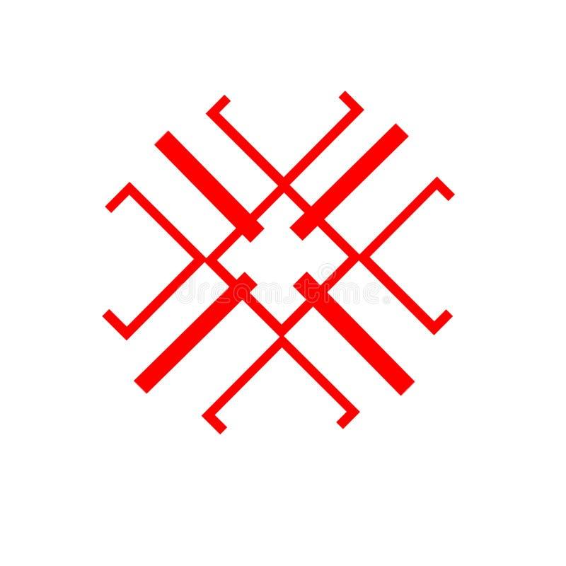 Das ethnische Element des slawischen Musters auf einem weißen backgrou lizenzfreie stockfotos
