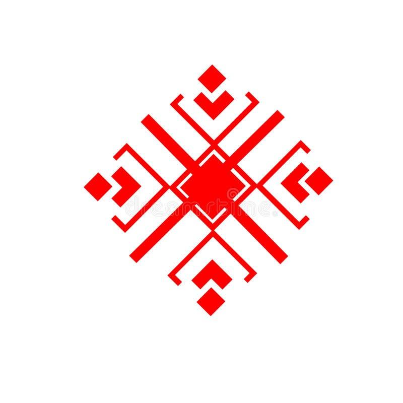 Das ethnische Element des slawischen Musters auf einem weißen backgrou stockfotografie
