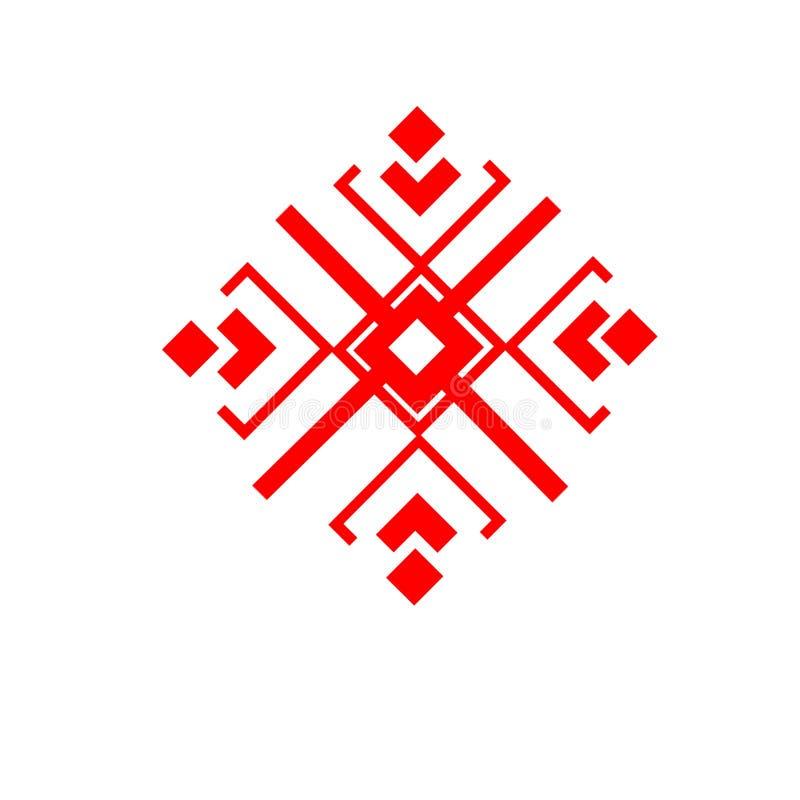 Das ethnische Element des slawischen Musters auf einem weißen backgrou lizenzfreie stockfotografie