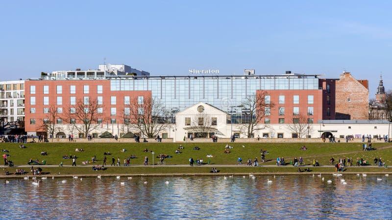 Das fünf Sterne Sheraton Krakow-Hotel stockbild