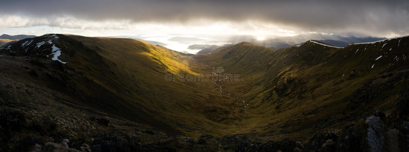 Das fairfield-Hufeisen panoramisch stockbilder