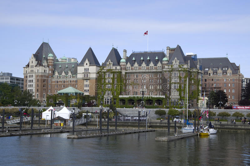 Das Fairmont-Kaiserinhotel Victoria BC Kanada stockfotografie