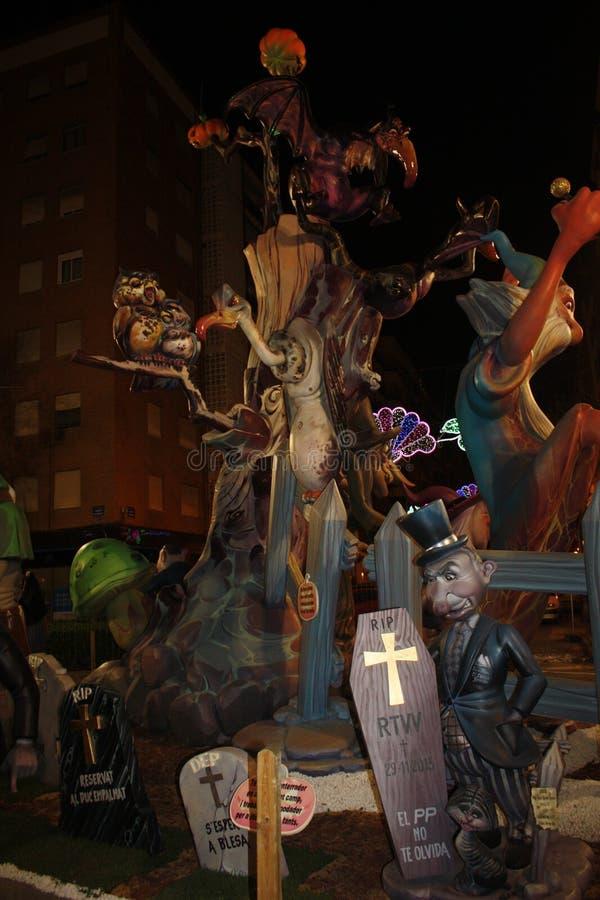 Das Falles in der Stadt von Valencia lizenzfreies stockfoto