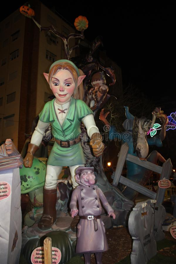 Das Falles in der Stadt von Valencia lizenzfreie stockfotos