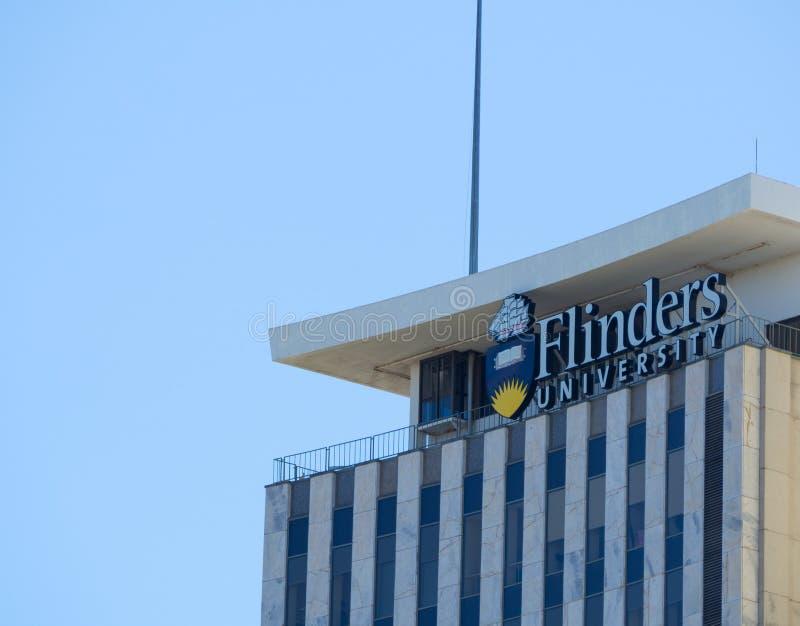 Das Fassadengebäude der Flinders-Universität ist eine öffentliche Universität in Adelaide, Süd-Australien lizenzfreie stockbilder