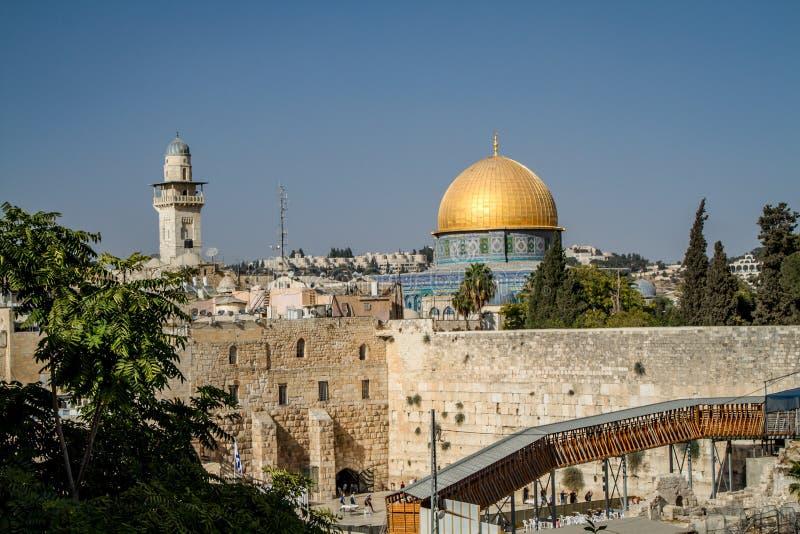 Das Felsendom, alte Stadt von Jerusalem, Israel stockfoto