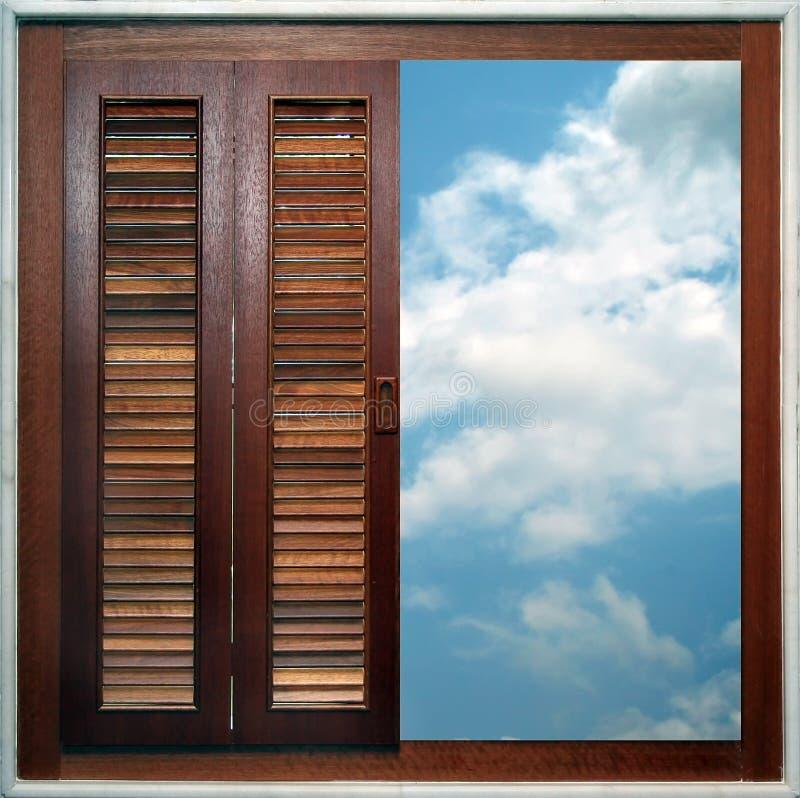 Das Fenster heraus schauen lizenzfreies stockbild