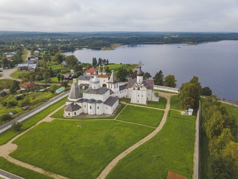 Das Ferapontov-Kloster Vologda-Landschaft stockfoto