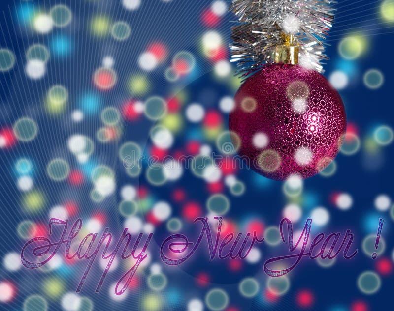 Das festliche congratulati des neuen Jahres vektor abbildung