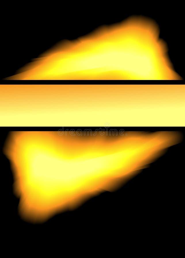 Das Feuer lizenzfreie abbildung