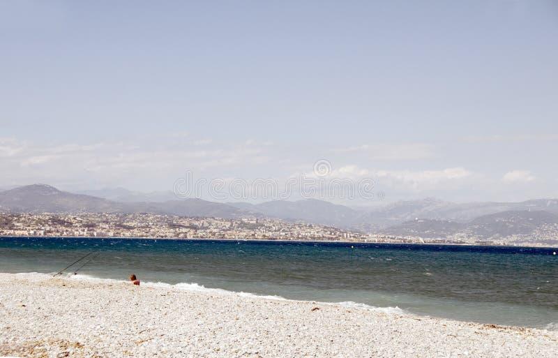 Das französische Nizza Frankreich Mittelmeer Riviera- lizenzfreies stockbild