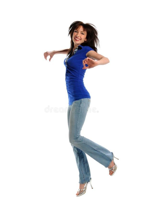 Das Frauen-Springen lizenzfreie stockfotos