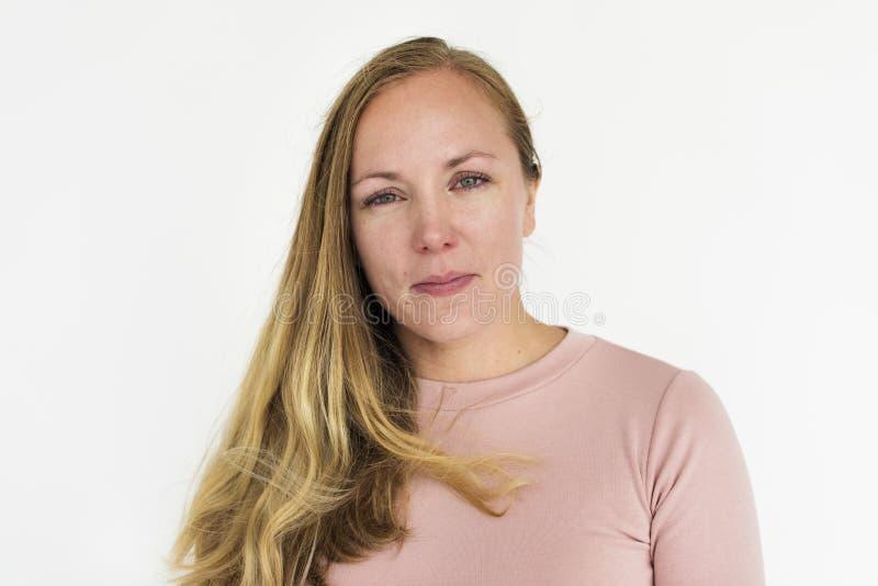Das Frauen-traurige Schreien drücken Porträt-Konzept nieder lizenzfreie stockbilder
