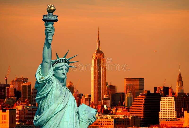 Das Freiheitsstatue stockfotos