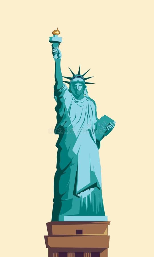 Das Freiheitsstatue lizenzfreie abbildung