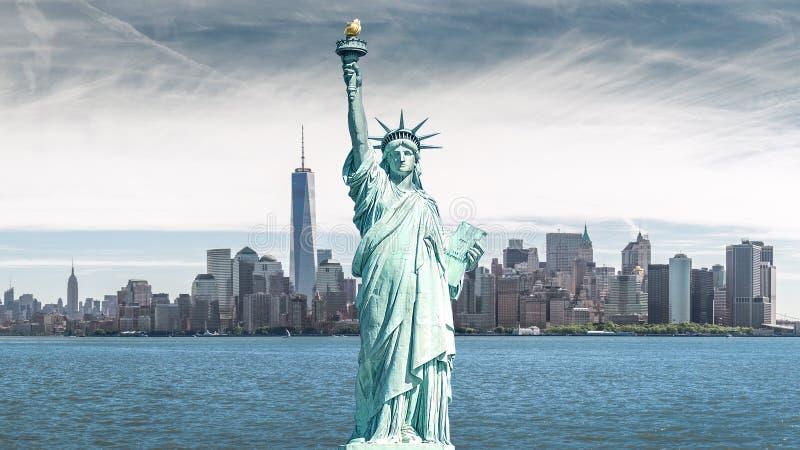Das Freiheitsstatue, Marksteine von New York City lizenzfreie stockfotos