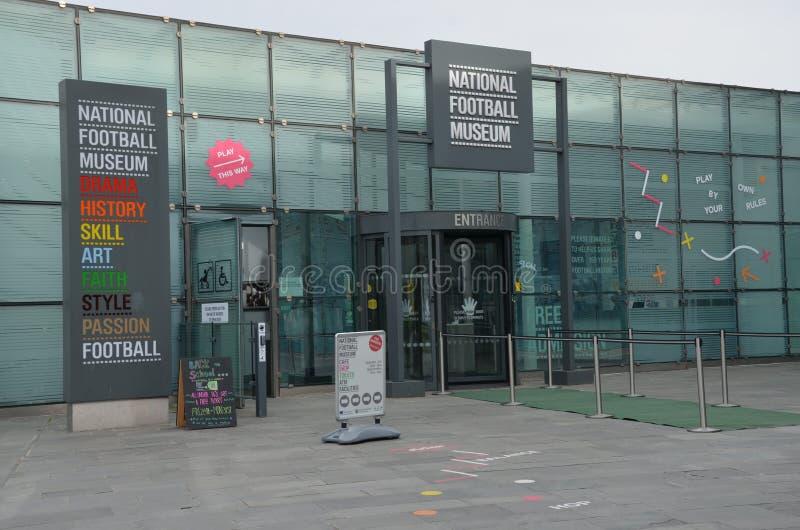 Das Fußball muzeum in Manchester lizenzfreie stockfotografie