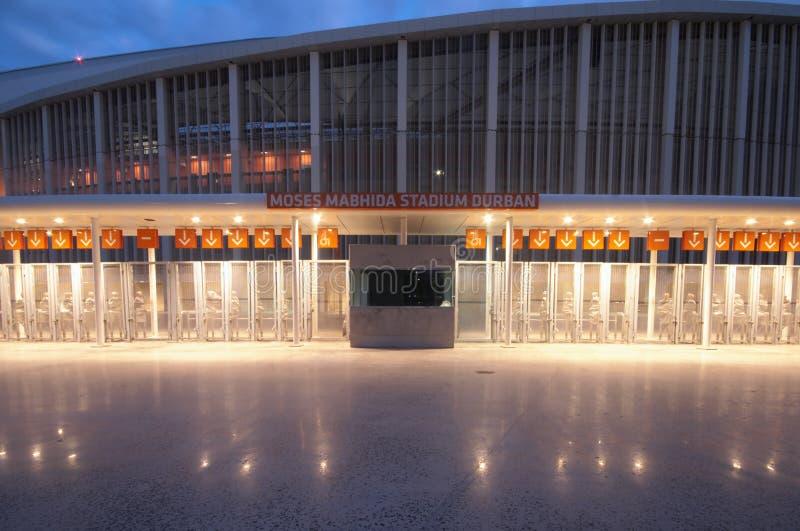 Das Fußball-Stadion Durban-Moses Mabhida stockfotos