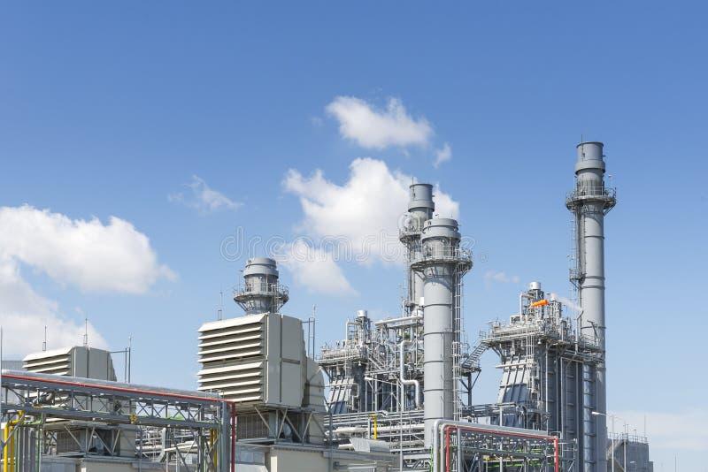Das Gasturbinenkraftwerk für Industriepark lizenzfreies stockbild