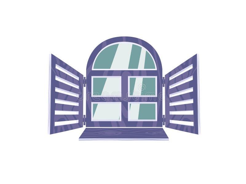 Das geöffnete Fenster auf weißem Hintergrund vektor abbildung