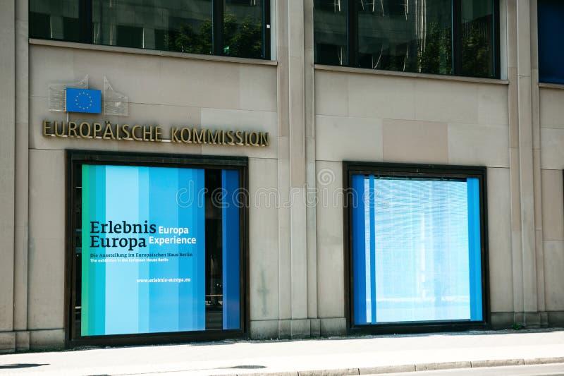 Das Gebäude der Hauptsitze der Europäischen Kommission in Berlin in Deutschland stockfoto
