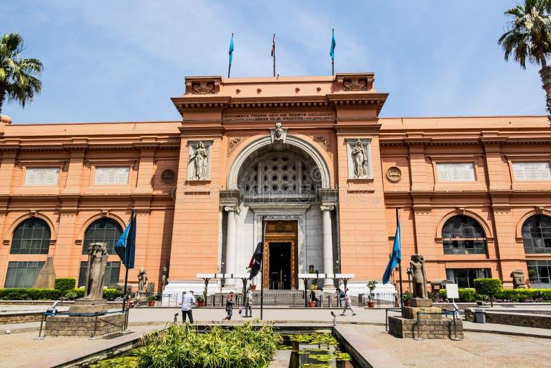 Das Gebäude des nationalen ägyptischen Museums in Kairo Egypt lizenzfreies stockfoto