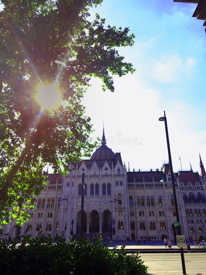 Das Gebäude des ungarischen Parlaments in Budapest stockbild