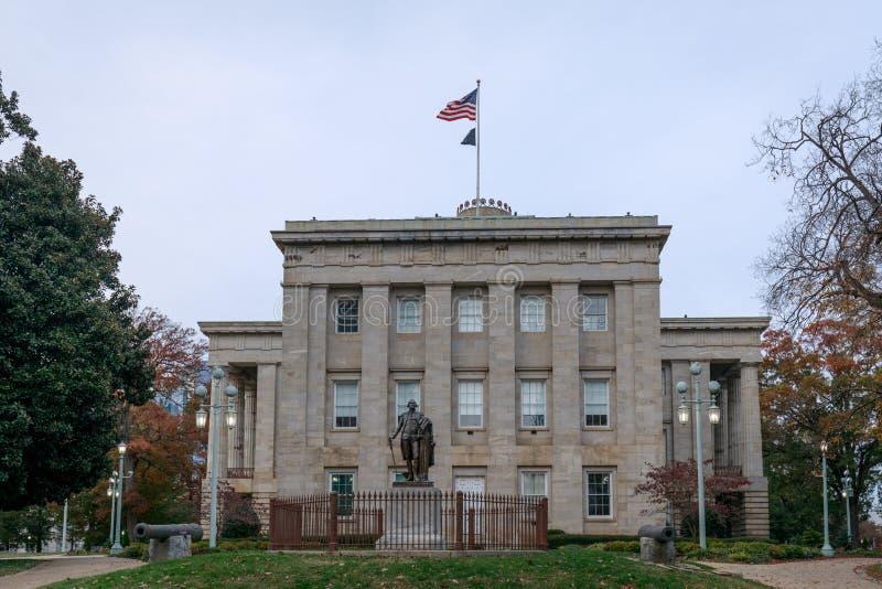Das Gebäude von Nord-Carolina State Capitol in Raleigh-Stadtzentrum stockfotografie