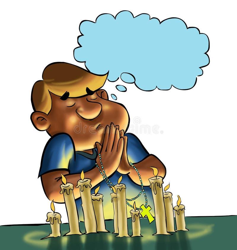 Das Gebet stock abbildung