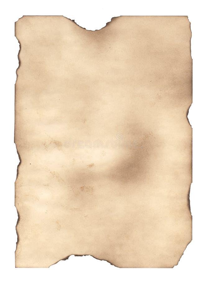 Das gebrannte heraus Papier 2 lizenzfreie abbildung