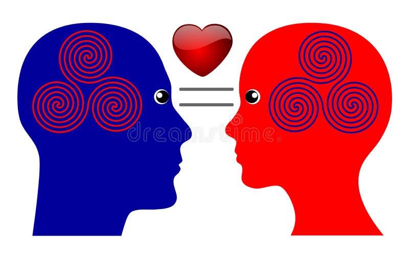 Das Geheimnis der Liebe lizenzfreie abbildung