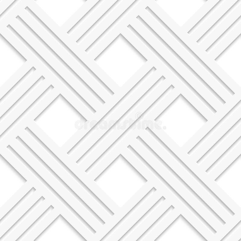Das gekreuzte Weiß zeichnet nahtloses stock abbildung