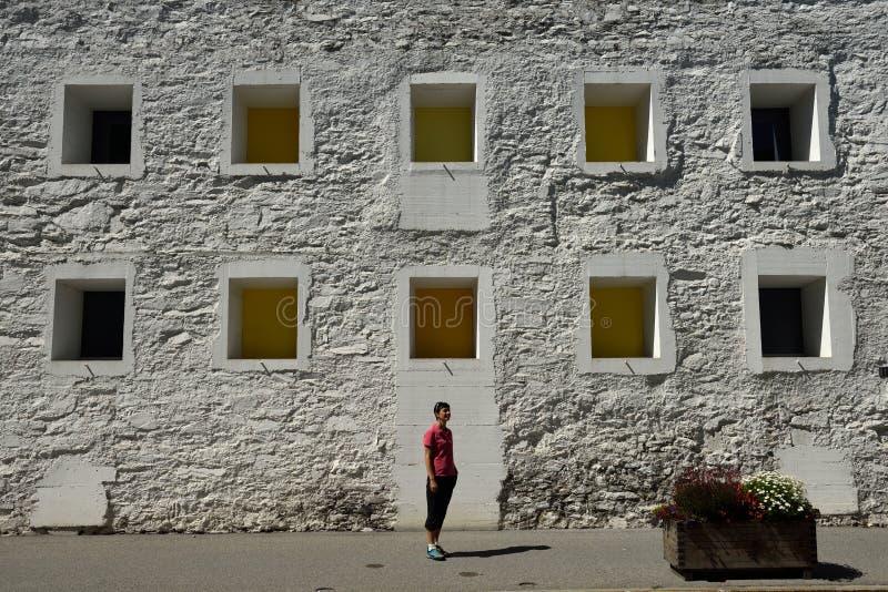 Das Gelbe Haus, Flims, Alp Nagens, Graubunden, Switzerland royalty free stock photos