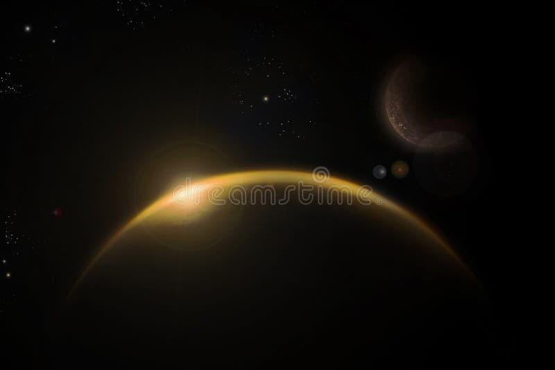 Das gelbe Universum lizenzfreie abbildung