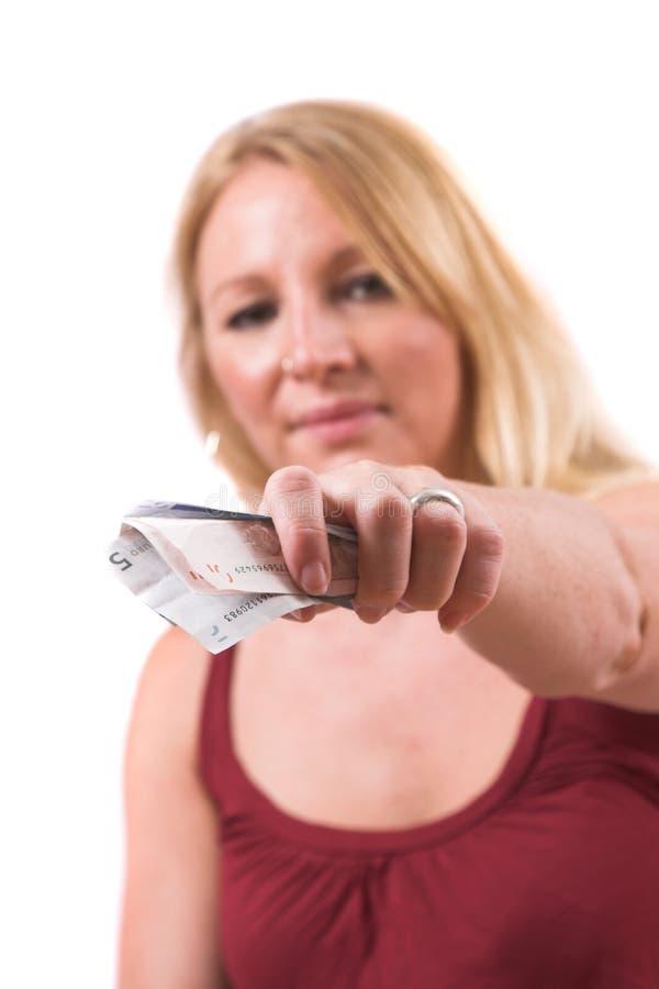 Download Das Geld heraus anhalten stockfoto. Bild von finanzierung - 865452
