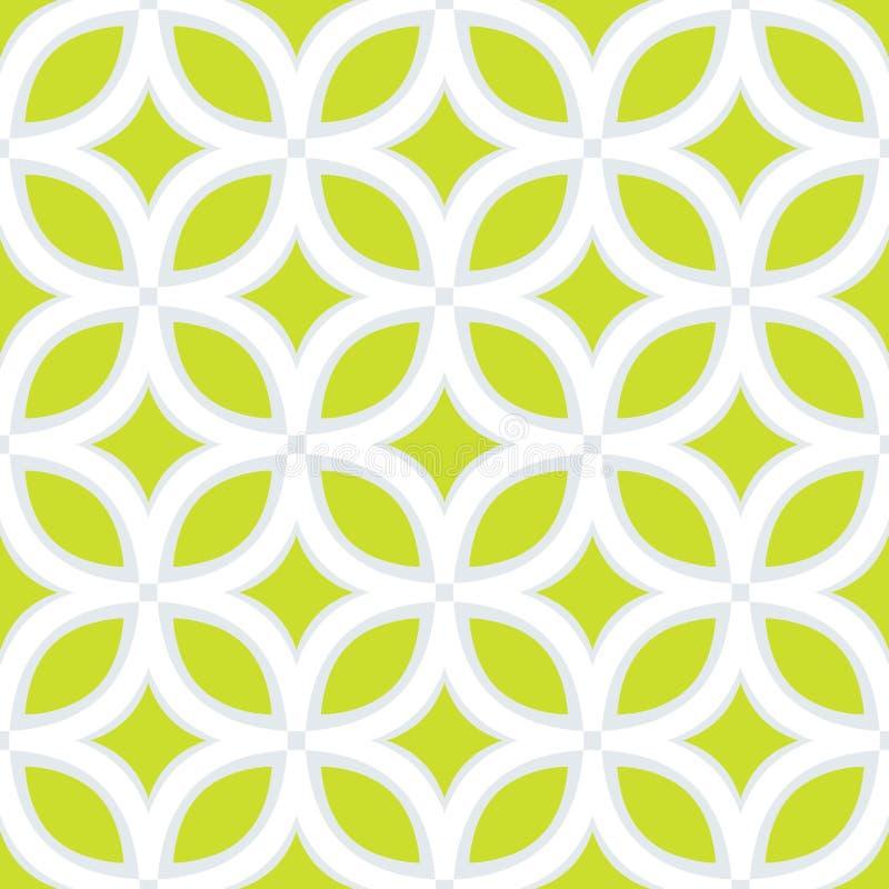 Das geometrische Muster Nahtloser Hintergrund Graue und weiße Beschaffenheit lizenzfreie abbildung