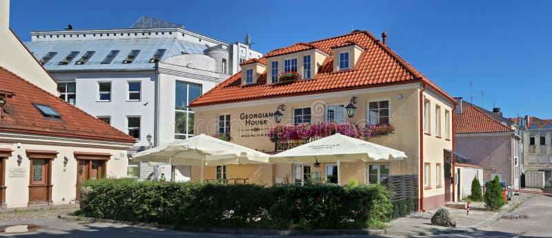 Das georgische nationale Restaurant und das jüdische Leute ` s zentrieren stockbild