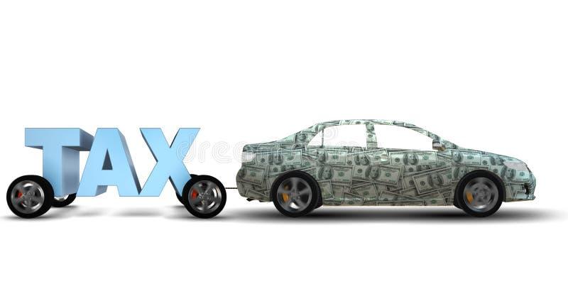 Das Geschäftskonzept der Steuerzahlungsbelastung - Wiedergabe 3d vektor abbildung