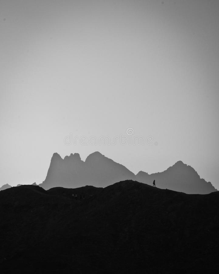 Das Gesicht des Berges lizenzfreies stockbild