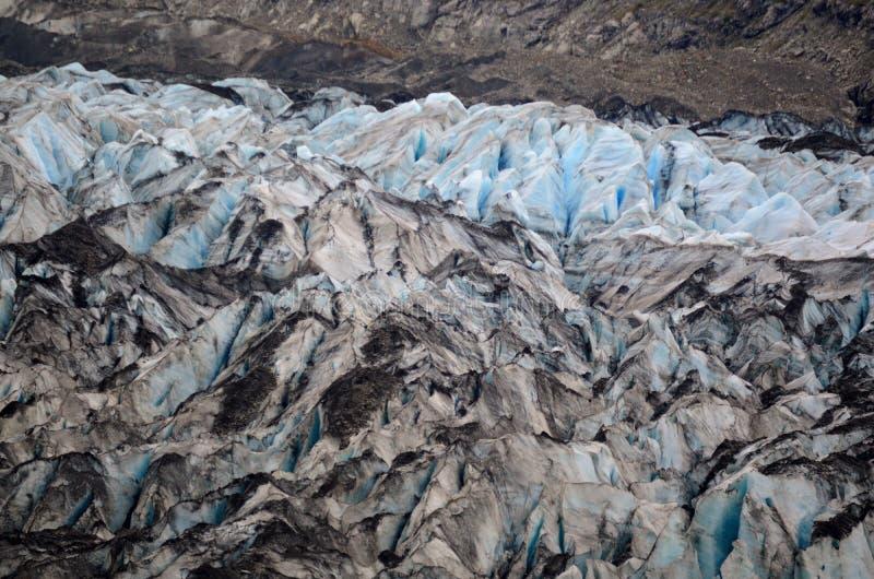 Das Gesicht eines Gletschers lizenzfreies stockbild