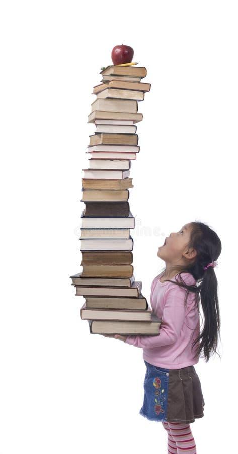 Das Gewicht des Wissens stockfoto