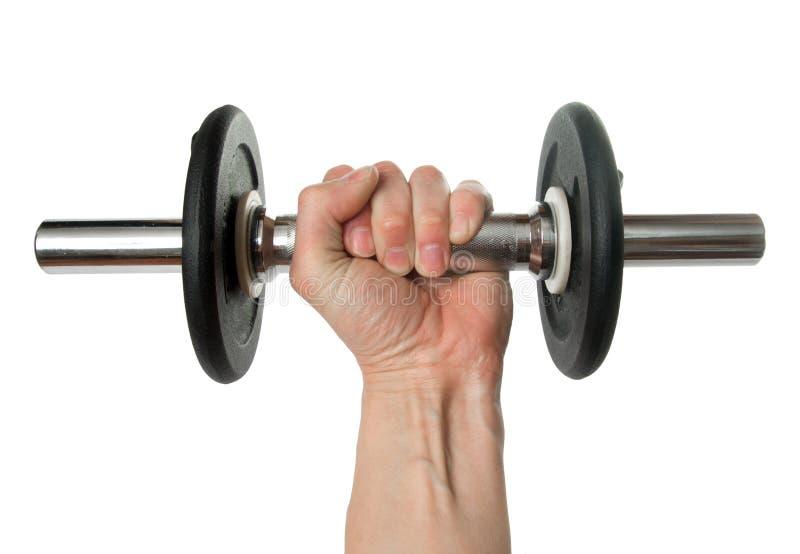 Das Gewicht in einer Hand stockbilder