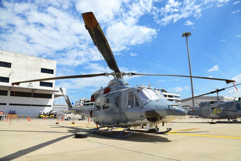 Das Gift Bell-UH-1Y wurde gezeigt lizenzfreie stockfotos