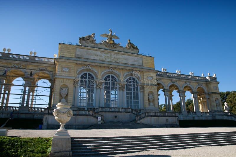Das Gloriette im Schonbrunn Garten stockfotografie