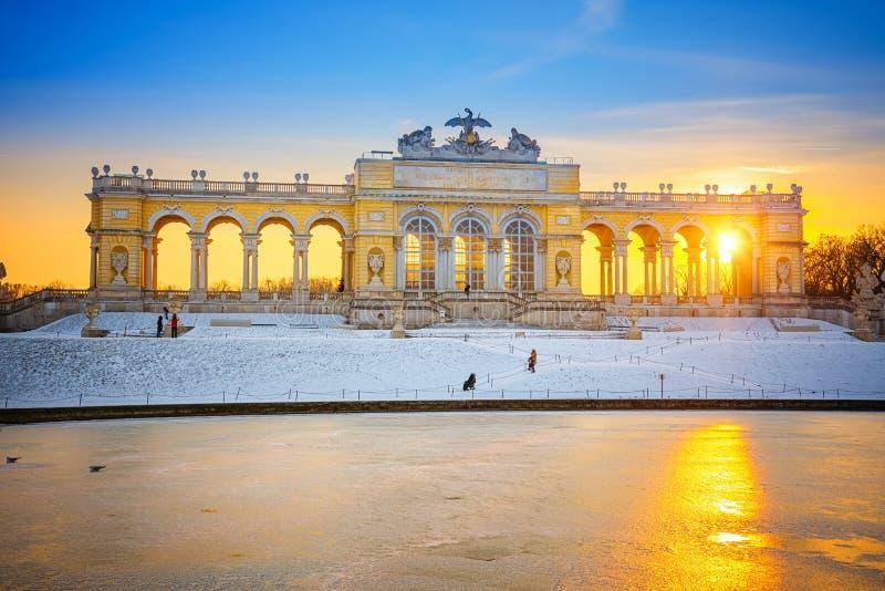 Das Gloriette im Schonbrunn-Palast, Wien lizenzfreie stockfotografie