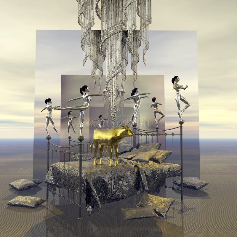 moses und das goldene kalb stock abbildung illustration von kalb 53269972. Black Bedroom Furniture Sets. Home Design Ideas