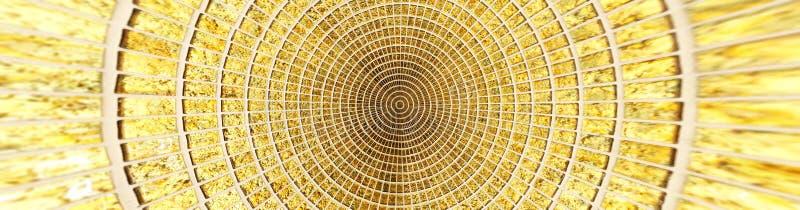 Das goldene Quadrat deckt Musterbeschaffenheit mit Ziegeln lizenzfreies stockbild